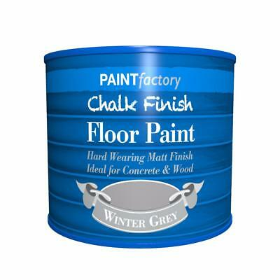 Paint Factory Chalk Chalky Floor Paint 2L Winter Grey Matt