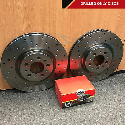 FOR AUDI S4 4.2 V8 B6 B7 FRONT CROSS DRILLED PERFORMANCE BRAKE DISCS PADS 345mm