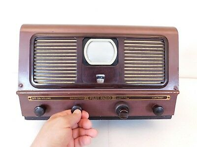 Vintage 1949 Old Pilot Tv Radio 3 Inch Miniature Mid Century Antique Television