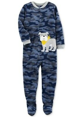 NWT ☀FOOTED FLEECE☀ CARTERS Boys Pajamas DOG New     6  $30