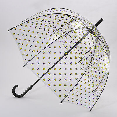 Fulton Birdcage Clear Dome Umbrella - Bumble Bees Print