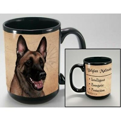 15 oz. Faithful Friends Mug - Belgian Malinois MFF017