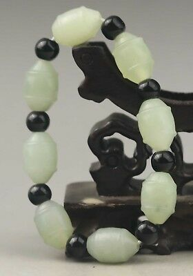China natural jade bangle Chinese natural jade beads Bracelet