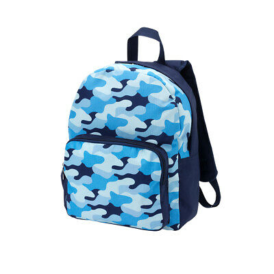 Boy's Preschool Backpack Blue Camo 2 Compartments NWT MONOGRAMMED Name/Initials
