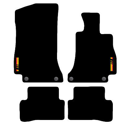 Tailored Carpet Car Floor Mats FOR Mercedes C-Class 2014 + Onwards with logo