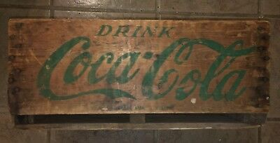 RARE Vintage EARLY Coca Cola Bottle Case Wooden Coke Crate
