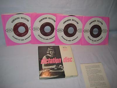 Dictation Disc Set 50 Legal With 4 Shorthand Speed Development 45RPM Records