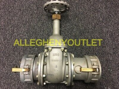 "MBC Gate Valve Flange Size: 4"" 235-RF125 w/ Male & Female Couplers EXC"