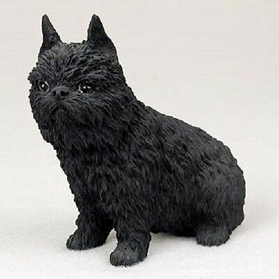 BRUSSELS GRIFFON Dog HAND PAINTED FIGURINE Resin Statue COLLECTIBLE black Puppy