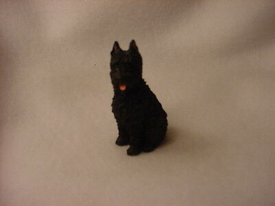 BOUVIER des FLANDRES puppy TiNY Dog FIGURINE Resin HAND PAINTED MINIATURE Mini