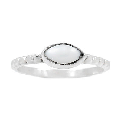 Pearl 925 Sterling Silver Ring Jewelry s.9 RR175977