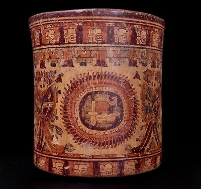 Ancient Mayan Vessel with Hero Twins - Classic Period - With Oxford TL Test