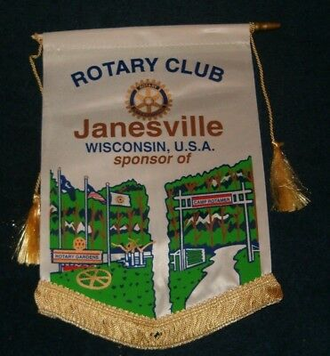JANESVILLE WISCONSON Rotary International Club Wall Banner Flag
