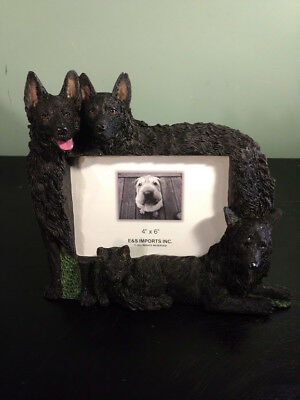 """E&S Imports """"DOG"""" PICTURE FRAME Schipperke Holds 4X6 Picture"""