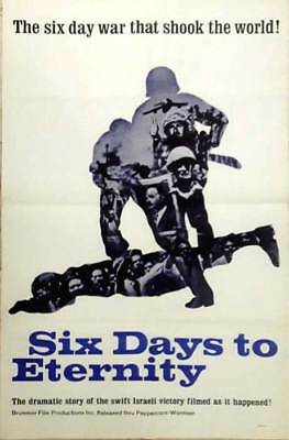 Six Days To Eternity Movie Poster Famous Israeli War! 1967