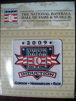 MLB Official Hall of Fame Induction Patch 2009 Gordon, Henderson, Rice