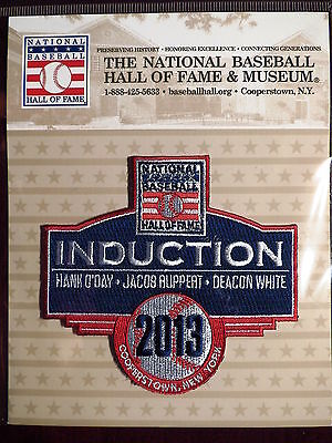 MLB Official Hall of Fame Induction Patch 2013 White, O'Day, Ruppert