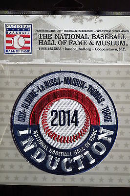 MLB Hall of Fame Induction Patch 2014 Cox Glavine LaRussa Maddux Thomas Torre