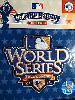 MLB Official 2010 World Series Patch Giants Rangers