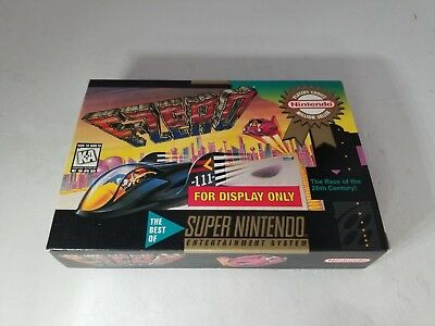 """F-ZERO Official Super Nintendo SNES  """" For Display Only """" Box NO GAME"""