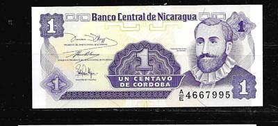 NICARAGUA #167a UNCIRCULATED OLD 1991 CENTAVO BANKNOTE BILL NOTE PAPER MONEY