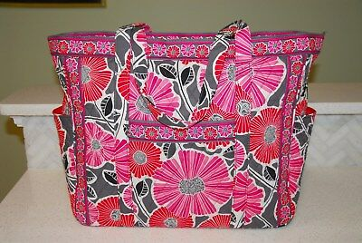 Vera Bradley Cherry Blossoms Large Overnight Weekender carry all bag