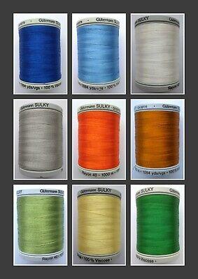 Colour 1046 TEAL Gutermann Sulky Cotton 12 200m Spool Embroidery Thread