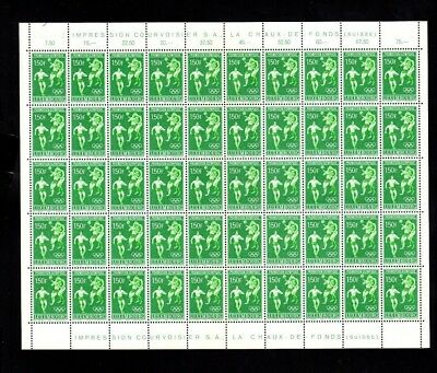 3642 Luxembourg - 1968 lovely complete sheet of 1.5Fr. Olympics stamps MNH