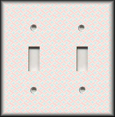 Metal Light Switch Plate Cover Vintage Designs Home Decor Light Pink Wallplates