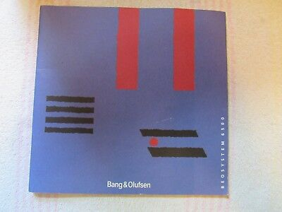 Bang & Olufsen B&o Brand. Model Beosystem 6500. Owner's Manual