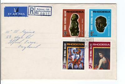 (K508) Rhodeasia 1967 National Gallery  Fdc As Scan