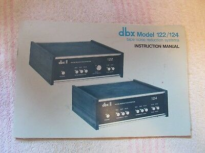 dbx BRAND. MODEL 122/124. DYNAMIC RANGE ENHANCER. OWNER'S MANUAL