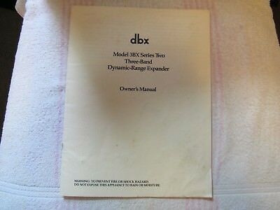 dbx BRAND. MODEL 3BX. DYNAMIC RANGE ENHANCER. OWNER'S MANUAL