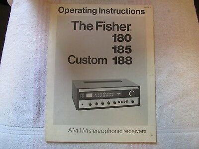 The Fisher Brand. Models 180-185-188. Stereo Receiver. Owner's Manual