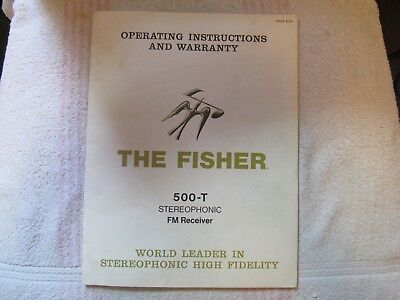 The Fisher Brand. Model 500-T. Stereo Receiver. Owner's Manual