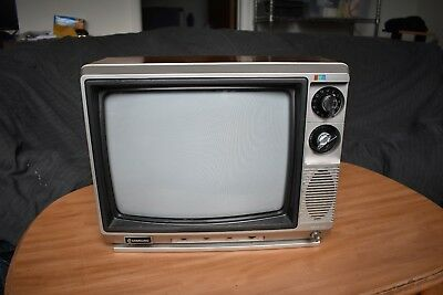 "Nice Used Color Samsung Vintage 13"" 1984 CRT TV Television CT-333KA Retro Gaming"