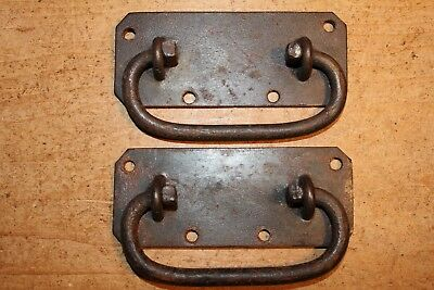Pair of Antique Handles for Old Pine/Oak Blanket Box/Chest/Trunk/Coffer~