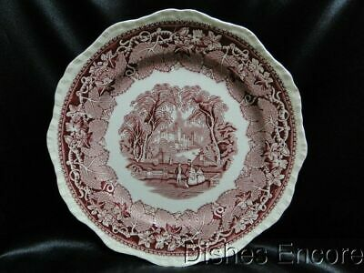 "Mason's Vista Pink, Transferware: Dinner Plate (s) 10 5/8"" AS IS"