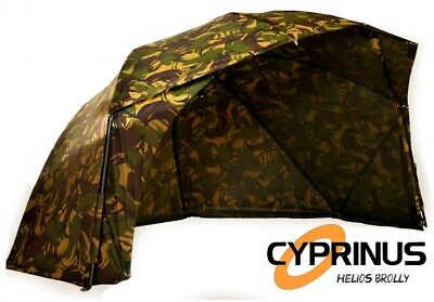 "Cyprinus 55"" CAMO4 Helios Carp Fishing Brolly Umbrella Fast and Lightweight"