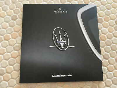 Maserati Quattroporte S/s Q4/gts Sales Folder Brochure 2018 Usa Edition