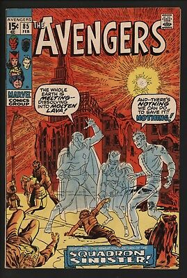 Avengers #85 Vs Squadron Sinister. Black Panther Appears. Tight Cents Copy