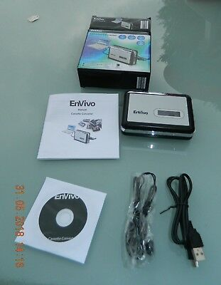 Envivo - Cassette Converter - 50815 - Converts Your Old Cassette To Cd/mp3
