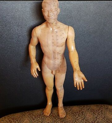 Vintage Chinese Acupuncture Rubber Doll 18  Inches