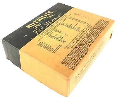 "Vintage Nutrilite Food Supplement Empty Box 5 x 4 x 1.5"" 1940's 1950's"