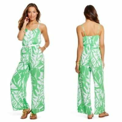 232d5da3686 Lilly Pulitzer for Target Boom Boom Jumpsuit Green White Palm Romper XS NWT!