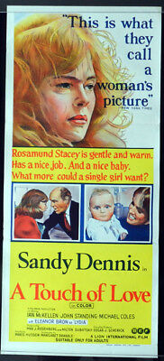 A TOUCH OF LOVE 1969 Sandy Dennis Daybill Movie poster Thank You All Very Much