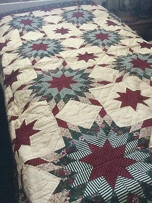 """Lovely Ohio Star Quilt - On Sale  - 86"""" X 86"""" -  Never Used - Very Nice"""