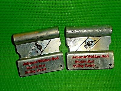 Vintage Aluminum JOHNNIE WALKER RED Liquor Distributor Box Openers x 2