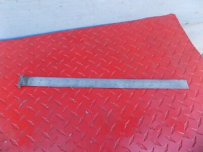 "Starrett 18"" Adjustable Double Hook Steel Rule Ruler Scale Tempered No.604R"