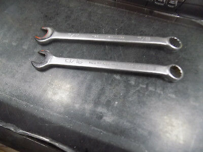 """Wright  7/8"""" & 13/16""""  Combination  Wrenches 1128- & 1126 USA never used 12pt"""